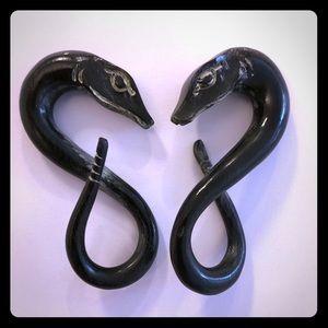 Carved Tapered Snake Gauges